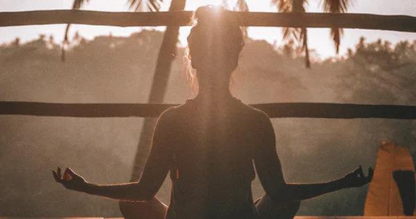 meditation during sunrise