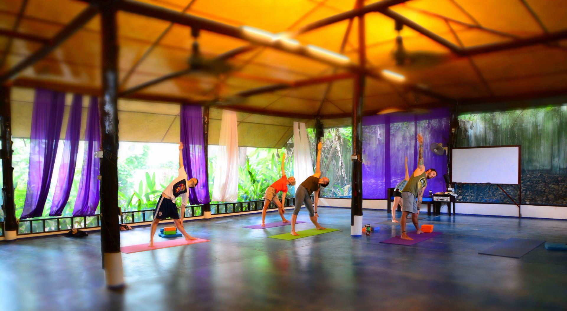Yoga studio shot